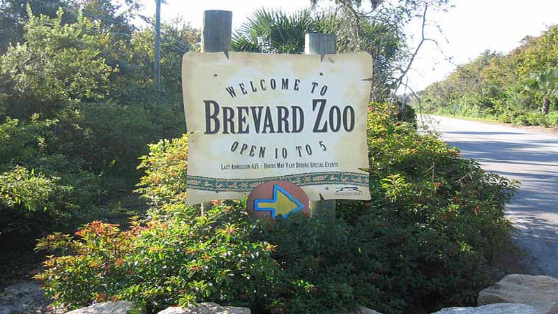The Brevard Zoo entrance